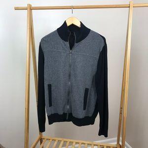 Banana Republic • Luxe Zip Up Sweater Mens Large